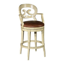 EuroLux Home - New Swivel Bar Stool Brown/Tan Leather - Product Details