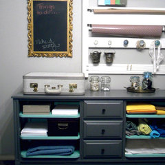 contemporary home office Design*Sponge » before & after: jessica's craft station