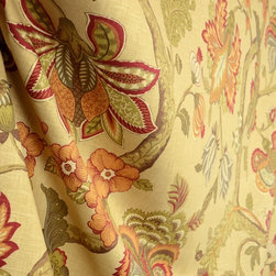 Fabricut - 02116 Garden Spice Fabricut Linen Fabric By The Yard - 02116 Garden Spice Fabricut Fabric. Rust, orange, red and browns with jacobean flavor. This floral is great for pillow, draperies and light upholstery.