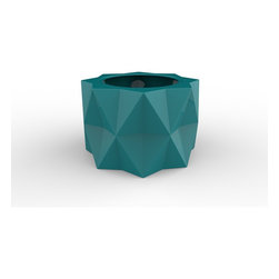 Decorpro - Buntry Planter (TEAL) - Made from a non-toxic food grade polymer based fiberglass resin, these contemporary planters will never rot, mildew, split, cup or warp. This material offers an unparalleled combination of uniformity, durability and beauty. These modern outdoor planters are available in our standard colours or you have the option of selecting a custom colour. Decorpro planters meet all your performance and durability requirements. Whether exposed to salt water the rough and tumble of everyday wear and tear of home or commercial use, our gel coats maintain a beautiful finish no matter how tough the conditions get.