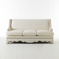 Nailhead Sofa - A row of nailhead trim adds subtle definition to a shapely sofa.