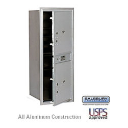 Salsbury Industries - 4C Horizontal Mailbox - 11 Door High Unit - Single Column - Stand-Alone Parcel L - 4C Horizontal Mailbox - 11 Door High Unit (41 Inches) - Single Column - Stand-Alone Parcel Locker - 2 PL5's - Aluminum - Front Loading - USPS Access
