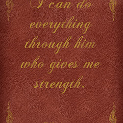Keep Calm Collection - I Can Do Everything Through Him (Philippians 4:13), Bible Verse Poster - High quality poster on durable paper. Size: 12 x 18 inches. Printed in the USA.