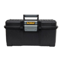 "Stanley Tools - Dwst24082 24 In. Onetouch Box - Dewalt 24"" 1-TOUCH LATCH TOOL BOX  One-handed operation latch tool box  Allows opening when other hand is occupied  Integrated water seal to help protect -  from water and dust  Soft grip handle for easy grip & carrying  V-groove on lid - suitable for pipes -  and lumber      DWST24082 24 IN. ONETOUCH BOX  SIZE:24"""