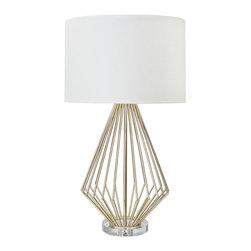 Worlds Away - Worlds Away Truman Silver Leaf Table Lamp - Worlds Away Truman Silver Leaf Table Lamp