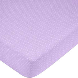 "Sweet Jojo Designs - Purple Mod Dots Crib Sheet - Mini Dots - The Purple Mod Dots Crib Sheet - Mini Dots is the perfect accessory for your Sweet Jojo Designs Crib Bedding Set. An extra sheet will always come in handy! This sheet fits standard sized cribs and toddler beds and measures 52"" x 28"" x 8""."