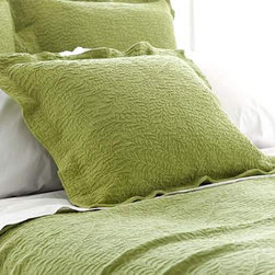 Pine Cone Hill - scramble matelasse coverlet (key lime) - Make a statement with intricately stitched branches that twine over this soft cotton matelasse coverlet.��This item comes in��key lime.��This item size is��various sizes.