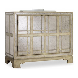 Hooker Furniture - Antique Mirrored Chest - The substantial and antique mirrored chest has plenty of space for your heirloom or everyday treasures. With a modern flare, this chest is a guaranteed focal point in any room, bringing old and new into harmony in your home.