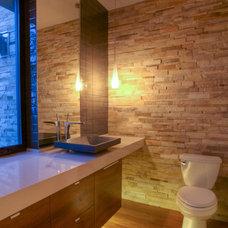 Contemporary Powder Room by Silva Studios Architecture