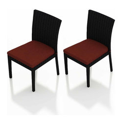 Urbana 2-Piece Patio Dining Chair Set, Henna Cushions