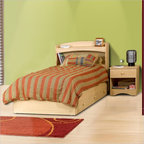 Nexera - Nexera Alegria Twin Wood Captain's Storage Bed 3-Piece Bedroom Set - Nexera - Bedroom Sets - 5600PKG3 - Nexera Alegria Twin Captain's Bed in Natural Maple Finish. Make your child's room more practical and functional with this attractively designed Alegria Captain's Bed. It features three roomy drawers and would also be ideal for a dual purpose area such as a den/guest room.