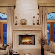 Fireplaces using stone
