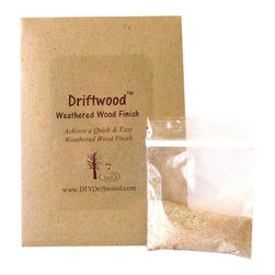 Driftwood - Driftwood Weathered Wood Finish DIY Product to Achieve Weathered Wood - *  Creates a beautiful Driftwood Finish on unfinished, bare wood in 15 minutes