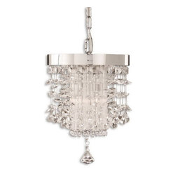 Uttermost - Uttermost 21849  Fascination Crystal Mini Pendant - The classic appeal of crystal is updated for today's sophisticated tastes. chrome plated rim adorned by various styles of crystal accents.