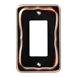 Liberty Hardware - Liberty Hardware 144411 Tenley WP Collection 3.31 Inch Switch Plate - A simple change can make a huge impact on the look and feel of any room. Change out your old wall plates and give any room a brand new feel. Experience the look of a quality Liberty Hardware wall plate. Width - 3.31 Inch, Height - 5.04 Inch, Projection - 0.28 Inch, Finish - Bronze W/Copper Highlights, Weight - 0.18 Lbs.