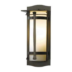 Bronze Outdoor Wall Light - 14-Inches Tall -