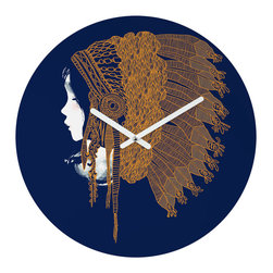 Native Headpiece Clock - You like culture. You have a flair for Native American�inspired art. You love making a statement and being on time. That's why this clock is your new talisman.