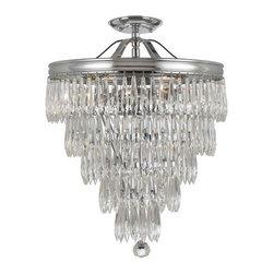 Crystorama Lighting Group - Crystorama Lighting Group 120-C Chloe 6 Light Semi-Flush Ceiling Fixture - Features: