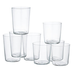 8-Piece Marta Barware Set - These Marta bar glasses actually live in my kitchen. I think they're phenomenal, and I can say that earnestly because I've been putting mine to use for several years. They are very lightweight and formed thin, making everything from a summer cocktail to a glass of milk seem like an infinity pool of wonderfulness.
