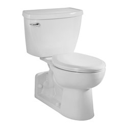 American Standard - Yorkville White Elongated Bowl Toilet - Create a classic and functional display in your bathroom with the Yorkville elongated bowl toilet from American Standard. This porcelain toilet is sure to deliver the performance you and your family need.