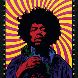 Amanti Art - Jimi Hendrix - Psychedelic Framed with Gel Coated Finish - \'Get experienced\' with this psychedelic Jimi Hendrix music poster. One of the most influential guitarists in the history of rock, Hendrix (1942 - 1970) headlined the famed 1969 Woodstock Festival.
