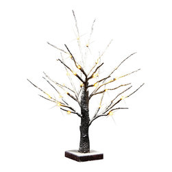 Lightshare - Christmas Decoration 24 LED Bonsai Snow Tree by Lightshare - Description