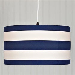 Deck Stripe Shade Pendant Light - Stripes are always a classic preppy pattern for a youthful space.