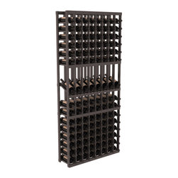 Wine Racks America - 8 Column Display Row Wine Cellar Kit in Pine, Black Stain + Satin Finish - Make 8 of your best vintages a focal point in your wine cellar. This display rack can store up to 11 wine cases. Features our industry exclusive solid display trays with high-reveal. Our wine cellar kits are designed to emphasize durability and elegance. You'll be satisfied. We guarantee it.