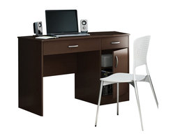 South Shore - South Shore Axess Small Computer Desk in Chocolate - South Shore - Computer Desks - 7259070 - Need to tidy up your home office? This Axess collection small desk is perfect for all your storage needs! Its design includes all the space you need for a well-organized workspace thanks to its closed storage spaces. In addition, the work surface is great for laying out homework or setting down a laptop.
