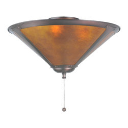 "Meyda Tiffany - Meyda Tiffany Flushmounts Flush Mount Ceiling Fixture in Mahogany Bronze - Shown in picture: Van Erp Amber Mica Flushmount; In The Tradition Of American Master Craftsman Dirk Van Erp - This Appealing Hand Finished Mahogany Bronze Frame Glows With The Warmth Of The Natural Amber Mica Panels Within. The Shade Is Supported By A Flushmount Fixture In Matching Mahogany Bronze Finish.; Smallest height shown - expandable from 8""-10""."