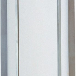 Maxim Lighting - Maxim Lighting Luna ES Contemporary Outdoor Wall Sconce X-MBTW61258 - The Maxim Lighting Luna Wall Sconce is an ideal selection if you want to give your home or business a modern style upgrade. The design works on both transitional and contemporary settings as the hardware is very minimal and will not take away from the architectural designs of your building. The sconce boasts a large white glass which will really give you the desired light that you need.