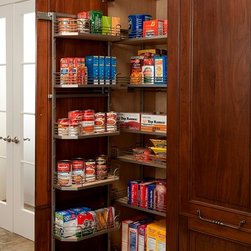 Cabinetry Accessories - Full Height Tall Tandem Pantry - Wood-Mode Cabinetry - Heart of the Home Kitchens