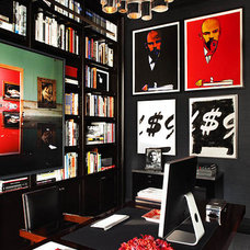 Contemporary Home Office by Robert Granoff