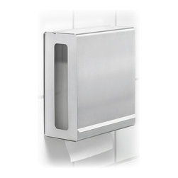 "Blomus - Nexio Paper Towel Dispenser, Matte - Paper towel dispenser - holds tissues Holds Max 10""x5"" C fold (single fold) paper towels. Choose Matte or a Polished finish."