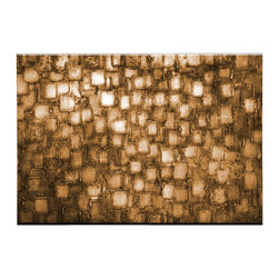 Matthew's Art Gallery - Oil Painting Abstract Modern Art on Canvas Handmade Golden Squares - The Painting: Golden Squares
