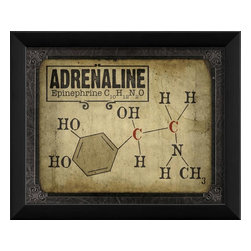 The Artwork Factory - Adrenaline Molecule Framed Artwork - Ready-to-Hang, 100% Made in the USA, museum quality framed artwork