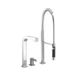 Maro   Two-hole Mixer With Profi Spray Set   Collection By Dornbracht - Maro   STRIKING IN EVERY DETAIL.   Single-lever mixer with pull-out spray set   Collection By Dornbracht   Available at www.shopstudio41.com