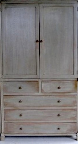 Custom Armoire With Rope Molding - Made by http://www.ecustomfinishes.com