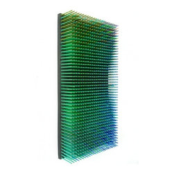 EcoFirstArt - Dynamic Optical Wall Sculptures - Add dimension and drama to your wall with this striking sculpture. Assembled from hundreds of pencil crayons and available in a range of colors, it takes on fresh life and new depth as you view it from different angles. Hang it vertically or horizontally, on its own or in a series to create an eye-catching installation.