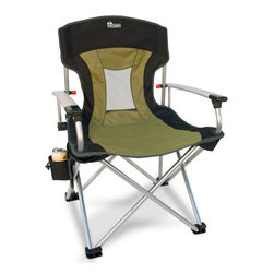 Earth Products Store - Earth New-Age Vented Back Outdoor Aluminum Folding Lawn Chair - The Most Durable, Heavyweight Outdoor Aluminum Lawn Chair on the Market! Stylish Looks w/ Innovative Mesh Air Flo Panel in Back for Extra Ventilation