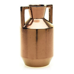 "Accent Decor - Camille Urn, 8""h X 4.75""w - Skillfully designed, these bronze colored decorative urns are ideal for adding that vintage modern flair."