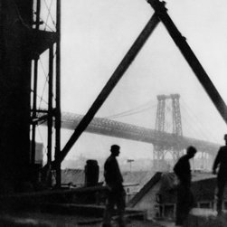 Williamsburg Bridge by Alvin Langdon Coburn Print - Published around 1911 as a photogravure photomechanical print.