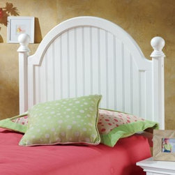 Hillsdale - Hillsdale Westfield Wood Headboard with Post Kit and Rails - A refreshing and cheerful addition to your child's bedroom, bed set is inspired by classic cottage styling. The youth bed features a traditional curved headboard, bead board details and lovely sculpted feet.