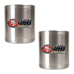 Great American Products - Great American NFL Stainless Steel Can Holder Set Multicolor - CZCZ2000-14 - Shop for Can Coolers and Koozies from Hayneedle.com! About Great American ProductsWith beginnings as a belt buckle maker in Texas Great American products has become the leader in licensed metal emblems and the products that they adorn. With licenses with every major sports league Great American products a wide range of unique products like drinkware coolers and kitchen accessories for the dedicated fan.