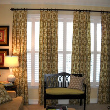 Traditional Living Room by Lady Dianne's Custom Window & Bed Treatments