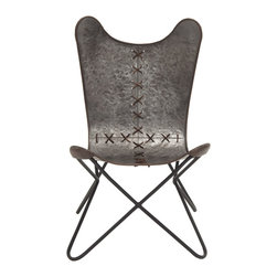 Ingenious in Conception Metal Stitched Chair - Description: