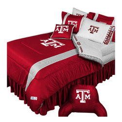Store51 LLC - NCAA Texas A-M Aggies Bedding Set College Football Bedding Set, Queen - Features: