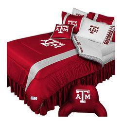 Store51 LLC - NCAA Texas A-M Aggies Bedding Set College Football Bedding Set, Queen - Features: