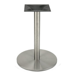 RFL540 Stainless Steel Table Base - Our high quality, stainless steel disk style table base from the RFL series is perfect for indoor and outdoor use in any dining, restaurant, home or commercial environment where you need a strong base with an elegant, modern style.