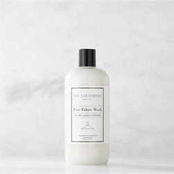 The Laundress® Fine Fabric Wash 16oz. - Make trips to the dry cleaner a thing of the past. Formulated exclusively for Clean Slate™, this ultra-gentle, eco-friendly wash by The Laundress®  is subtly infused with the scent of lavender. Designed to effectively clean your finest silk and other delicate fabrics by hand or on the delicate cycle of your washing machine, this fabric-care detergent safely removes stains and body oils to extend the life of your wardrobe. The plant-based formula is 100% biodegradable, non-toxic and allergen-free with no artificial colors or dyes, making it a kind choice for both the environment and sensitive skin.